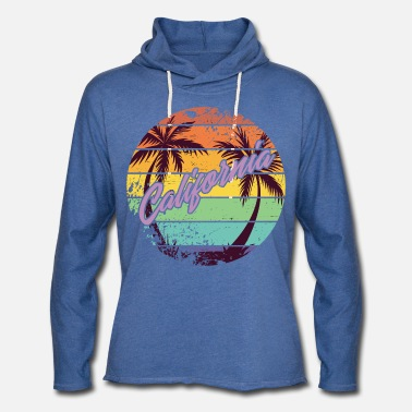 Venice California Retro - Unisex Lightweight Terry Hoodie