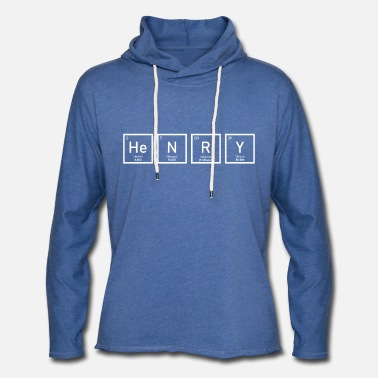 Periodic Table Henry - Periodic Table - Unisex Lightweight Terry Hoodie