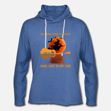 on a dark desert highway - Unisex Lightweight Terry Hoodie
