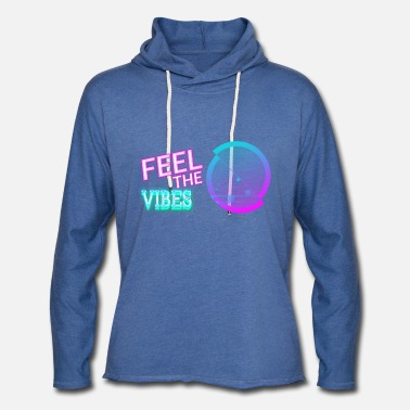 80s Feel the vibes! - Unisex Lightweight Terry Hoodie