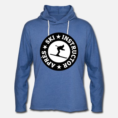 Sayings Après-Ski Instructor Quality Seal Skiing Skier - Unisex Lightweight Terry Hoodie