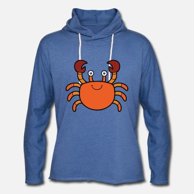 Seafood Crab seafood wildlife vector image cartoon awesome - Unisex Lightweight Terry Hoodie