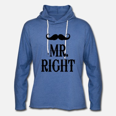 Right Mr. Right - Unisex Lightweight Terry Hoodie