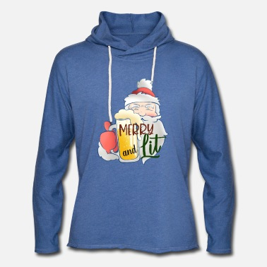 Bad Santa - Merry and Lit - Unisex Lightweight Terry Hoodie
