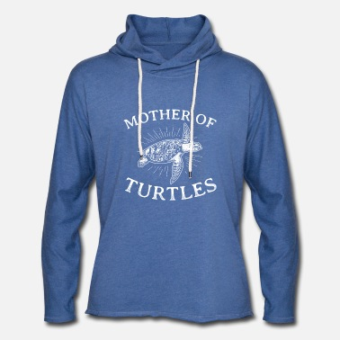 Reptile Funny Turtles Design Quote Mother Of Turtles - Unisex Lightweight Terry Hoodie