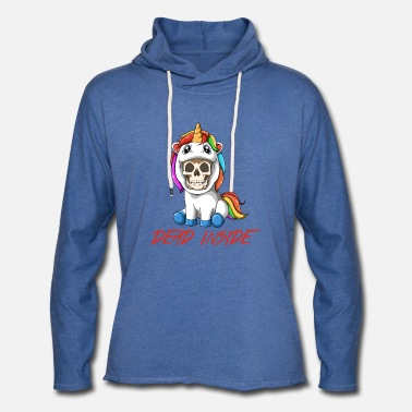 Emo Dead Inside Unicorn Costume - Unisex Lightweight Terry Hoodie