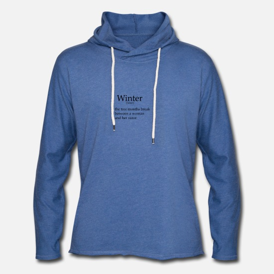 Winter Hoodies & Sweatshirts - Winter meme - Unisex Lightweight Terry Hoodie heather Blue