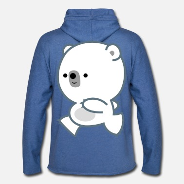 Cute Lively Polar Bear Cub by Cheerful Madness - Unisex Lightweight Terry Hoodie