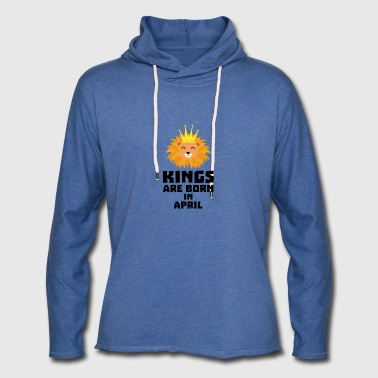 Kings are born in APRIL S723w - Unisex Lightweight Terry Hoodie