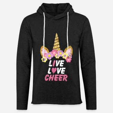 Cheer cheer unicorn - Unisex Lightweight Terry Hoodie