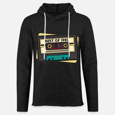 Cassette Cassette Birthday 1980 Best of - Unisex Lightweight Terry Hoodie