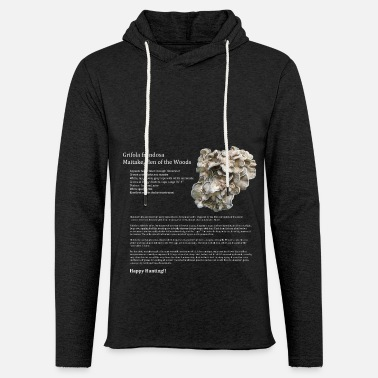 Grifola frondosa Maitake ID T - Unisex Lightweight Terry Hoodie