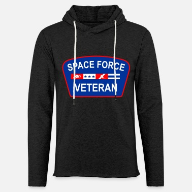 Navy Space Force Veteran Patriotic - Unisex Lightweight Terry Hoodie