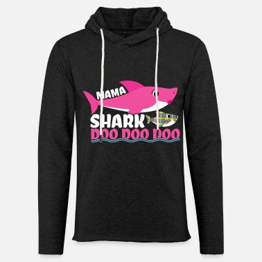 Piece Mama Shark Autism Awareness Autism Superhero - Unisex Lightweight Terry Hoodie