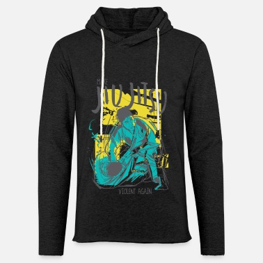 Violent Make Jiujitsu violent again - Unisex Lightweight Terry Hoodie