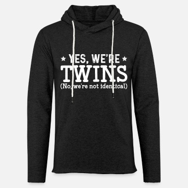 Gemini S Yes We Are Twins - Unisex Lightweight Terry Hoodie