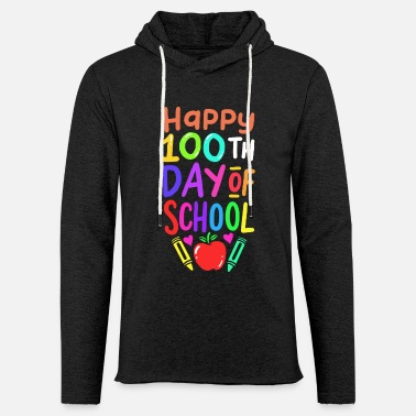 Happy 100th Day Of School Teacher Student - Unisex Lightweight Terry Hoodie