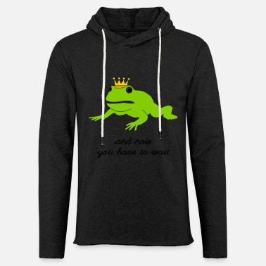 Pond grumpy frog prince - waiting - Unisex Lightweight Terry Hoodie