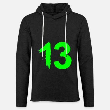 13th Number 13 favorite number brush - Unisex Lightweight Terry Hoodie