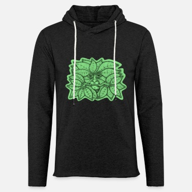 Green Man for Pagan Global Warming/Climate Change - Unisex Lightweight Terry Hoodie