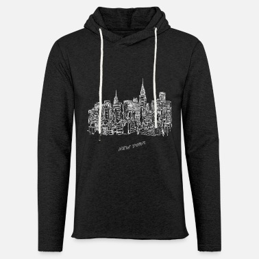 New York City New York City - United States - Unisex Lightweight Terry Hoodie