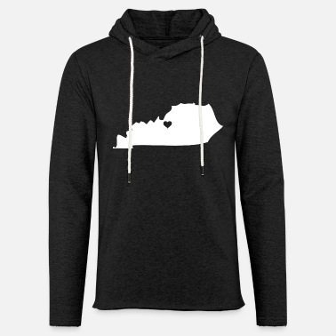 Kentucky Silhouette Heart - Unisex Lightweight Terry Hoodie