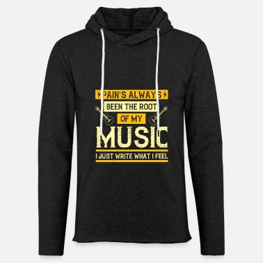 Concert Music - Pain's Been The Root Of My Music - Unisex Lightweight Terry Hoodie