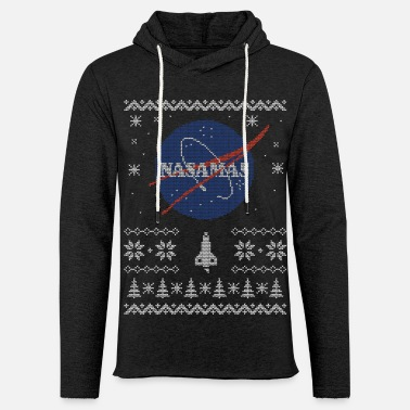 Nasamas Funny Ugly Christmas NASA space Sweater - Unisex Lightweight Terry Hoodie