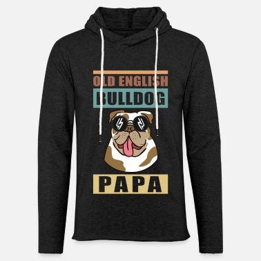 English Bulldog Dad Dog Owner Gift - Unisex Lightweight Terry Hoodie