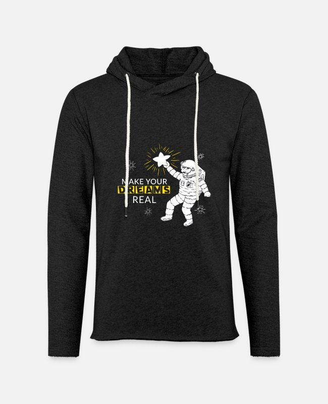 Dream Catcher Hoodies & Sweatshirts - Make your dreams real - Unisex Lightweight Terry Hoodie charcoal gray