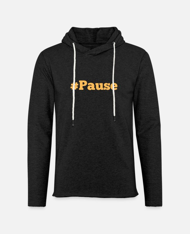 Bold Wear Hoodies & Sweatshirts - Bold #PAUSE - Unisex Lightweight Terry Hoodie charcoal gray