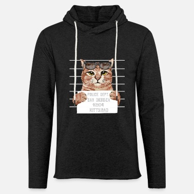 Mugshot Kitty Bad - Unisex Lightweight Terry Hoodie