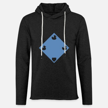 Pond Ducks on a pond - Blue - Unisex Lightweight Terry Hoodie