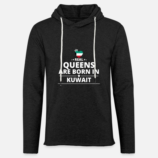 Kuwait Hoodies & Sweatshirts - queens from geschenk i love KUWAIT - Unisex Lightweight Terry Hoodie charcoal gray