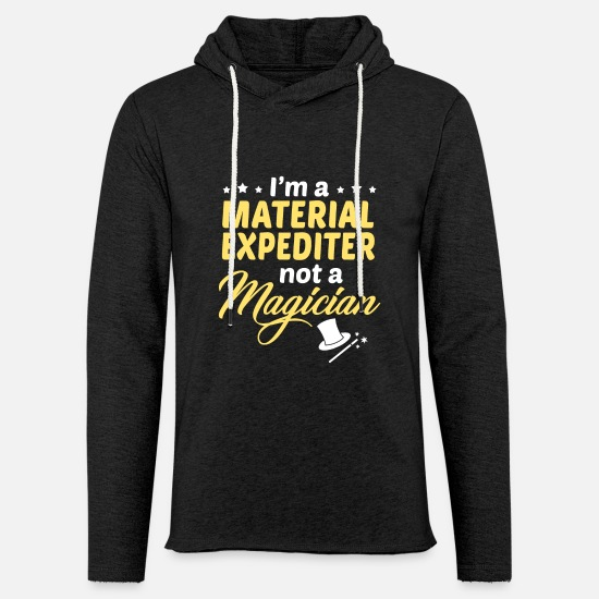 Material Hoodies & Sweatshirts - Material Expediter - Unisex Lightweight Terry Hoodie charcoal gray