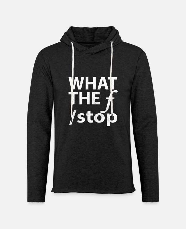 Nature Hoodies & Sweatshirts - New Design What The F Stop Best Seller - Unisex Lightweight Terry Hoodie charcoal gray