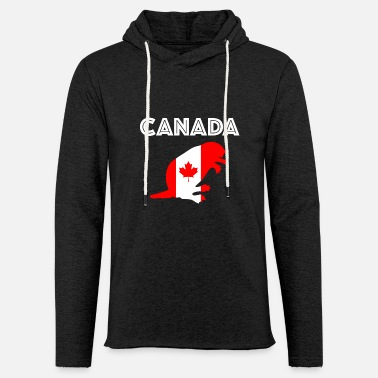 Quebec Canada nationality gift flag animals beaver - Unisex Lightweight Terry Hoodie