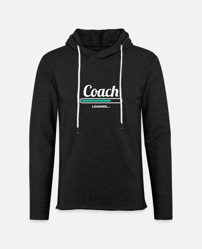 Loading Bar Hoodies & Sweatshirts - COACH LOADING - STYLISH SHIRTS FOR COACHS - Unisex Lightweight Terry Hoodie charcoal gray