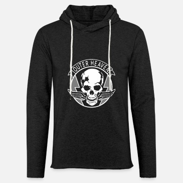 Outer Heaven Metal Gear Solid Sign Gaming Logo Fan - Unisex Lightweight Terry Hoodie