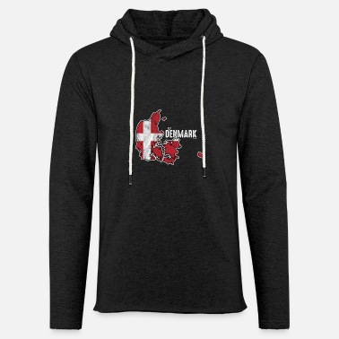 Denmark Patriotic Danish Denmark Flag Nationalism - Unisex Lightweight Terry Hoodie
