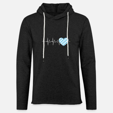 Southern Germany Bavarian Heartbeat Bavaria Southern Germany - Unisex Lightweight Terry Hoodie