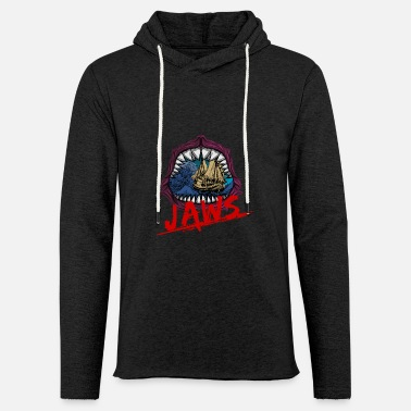 Jaws Jaws Mouth Megalodon bite boat sailing Shark gift - Unisex Lightweight Terry Hoodie