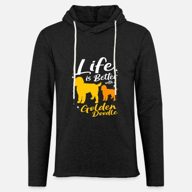 Doodle Dog Goldendoodle Golden Retriever Poodle - Unisex Lightweight Terry Hoodie