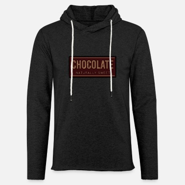 Sweet Chocolate Naturally Sweet - Unisex Lightweight Terry Hoodie