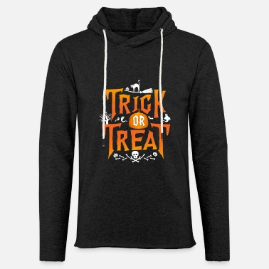 Treat Trick Or Treat - Unisex Lightweight Terry Hoodie