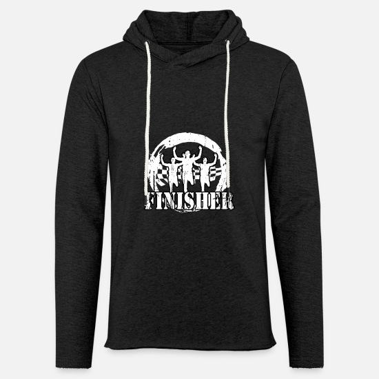Jogging Hoodies & Sweatshirts - Jogger - Finisher - Unisex Lightweight Terry Hoodie charcoal gray