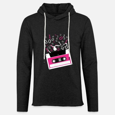 Rectangle Cassette tape Rectangle M Pattern Rectangle - Unisex Lightweight Terry Hoodie