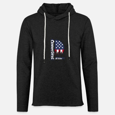 Us State Connecticut US State - Unisex Lightweight Terry Hoodie