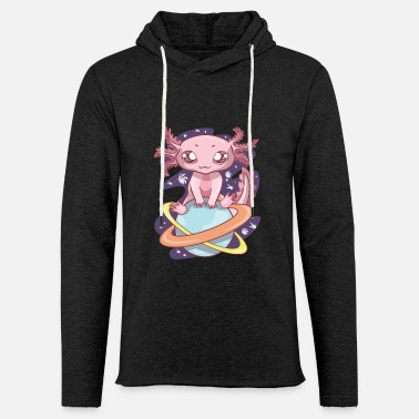 Pastel Goth Space Axolotl Kawaii Pastel Goth, Japan Anime - Unisex Lightweight Terry Hoodie