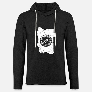 Jefferson State Of Jefferson | Borders & Seal - Unisex Lightweight Terry Hoodie